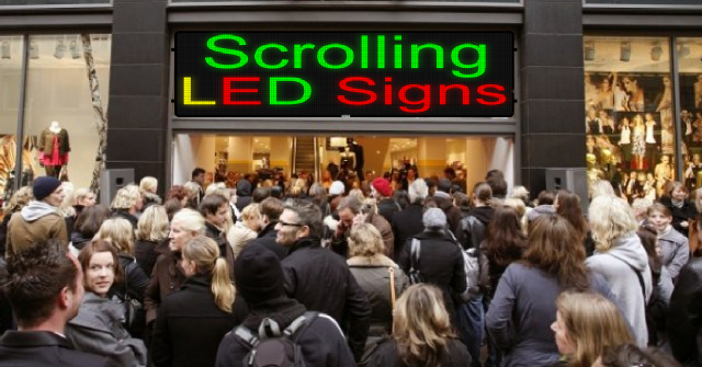 Scrolling LED signs