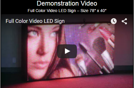 Full Color Video LED Sign Demonstration Video