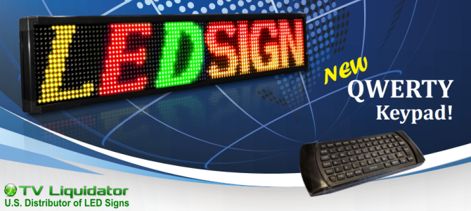 New March 2016 MultiColor LED Sign with Wireless Remote Keyboard
