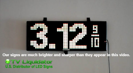 New Gas Price LED Sign Demonstration Video