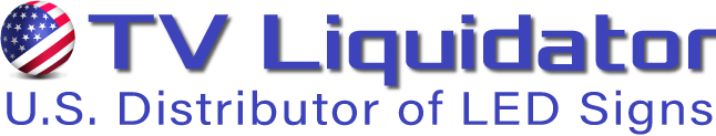 TV Liquidator Logo: Distributor of LED Signs