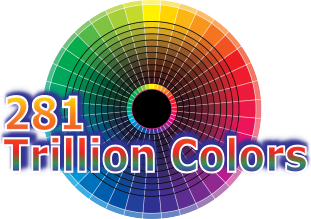 281 trillion color LED display
